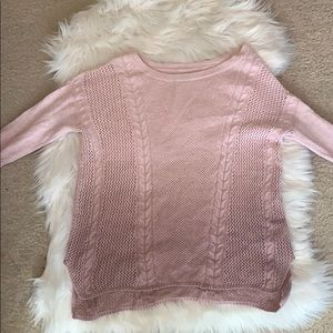 American Eagle ombré pink sweater